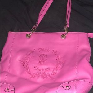 Juicy couture purse in Hot pink 💕